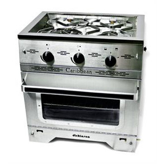 Dickinson 00-CAR2B Caribbean 2 Burner Propane Galley Range