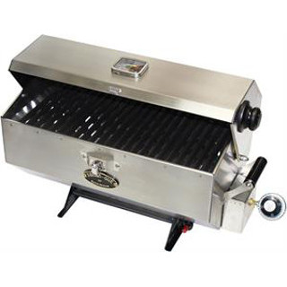 Dickinson 00-SBQ-L Large Sea-B-Que Stainless Marine Grill BBQ
