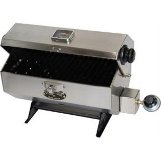 Dickinson 00-SBQ-S Small Sea-B-Que Stainless Marine Grill BBQ