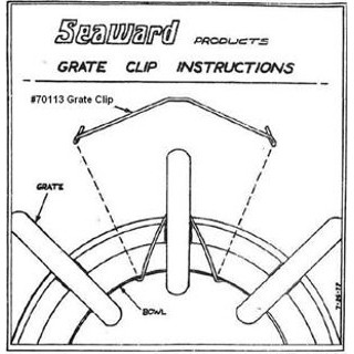 70113 Grate Clips Seaward Repair Part by Whale Marine
