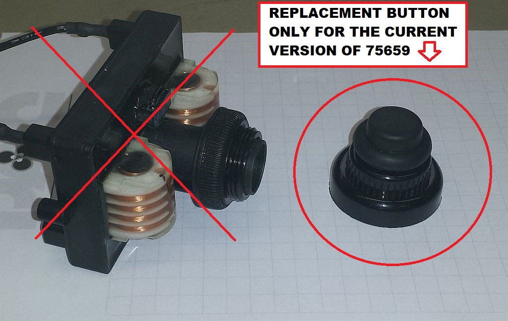 REPLACEMENT BUTTON, POST 2008
