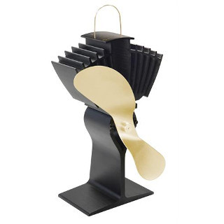 Caframo Model 812 Ecofan Airmax - Black with Gold Fan Blade