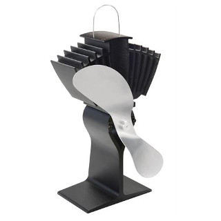 Caframo Model 812-Nickel Ecofan Airmax - Black with Nickel Fan Blade