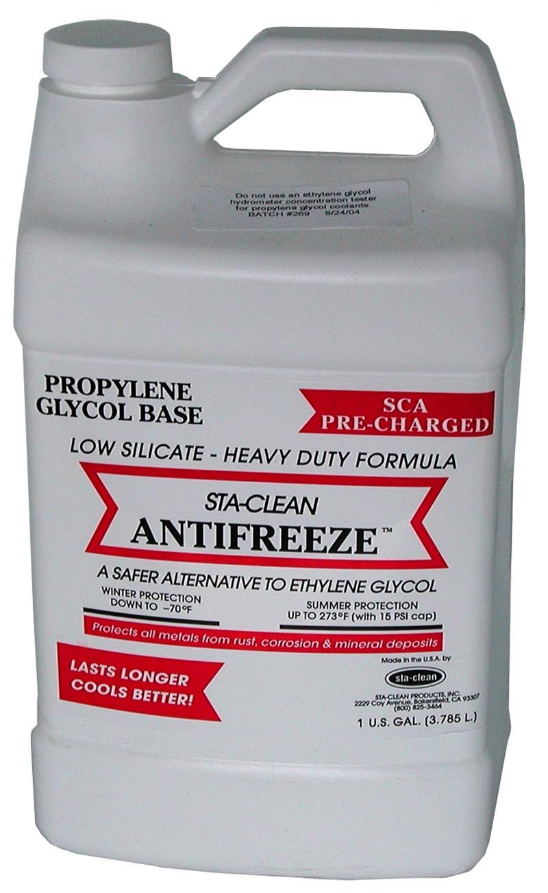 STA-CLEAN Antifreeze - Propylene Glycol Low Silicate SCA-Precharged