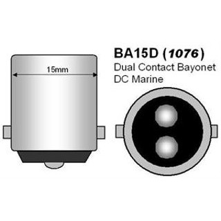 29003 Adapts G4 bulb to BA15D Style Double Contact Socket