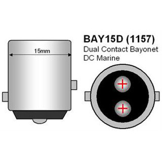 29002 Adapts G4 bulb to BAY15D Style Indexed Double Contact Socket