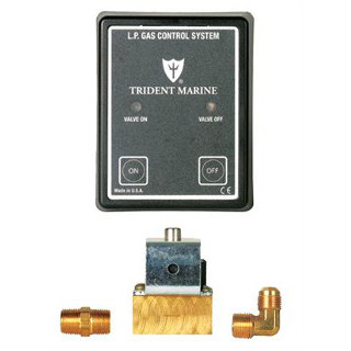 Trident 1300-7705.3 Propane Control Panel w/ 3/8 Brass Solenoid, 12V