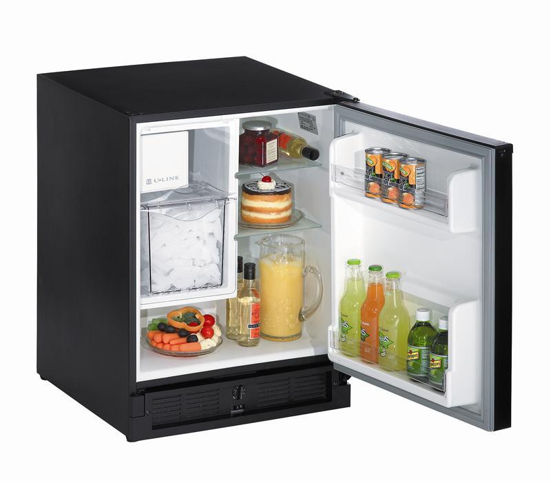 U Line Uln Co29b 03a Black Combo Ice Maker Refrigerator