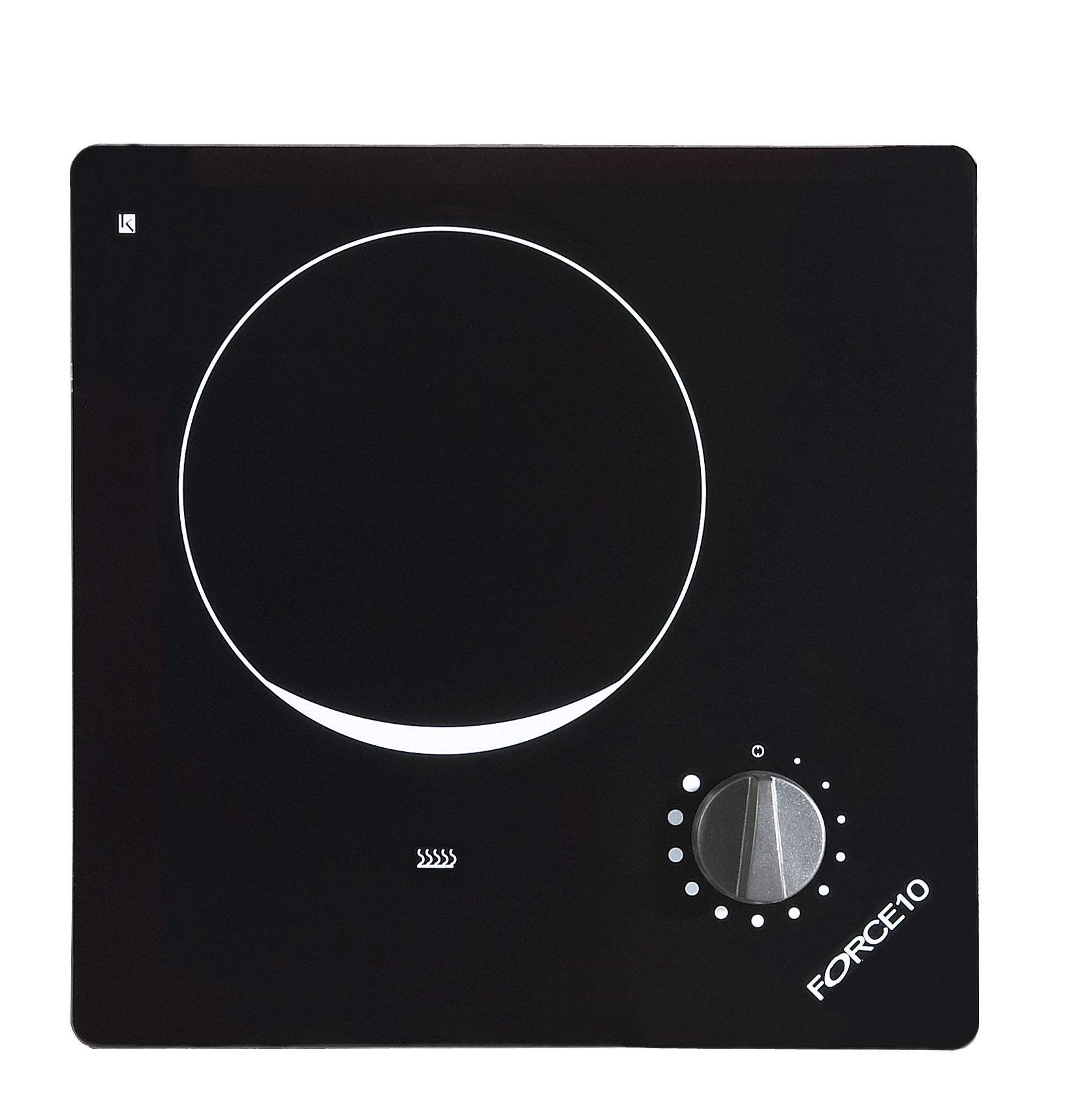 75121 1-BURNER, BLK GLASS 120V FORCE 10