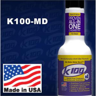 K100-MD 8 oz. Diesel Fuel Treatment with Enhanced Stabilizers