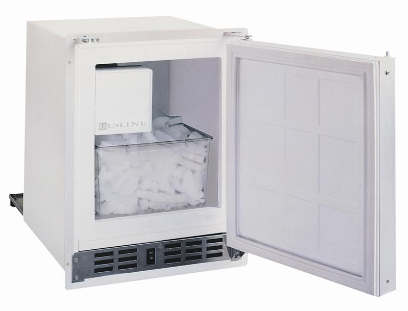U Line Uln Sp18fcw 03a White Low Profile Ice Maker