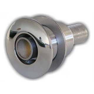 W002-170NUT 22mm Stainless Horizontal nut style exhaust thru hull