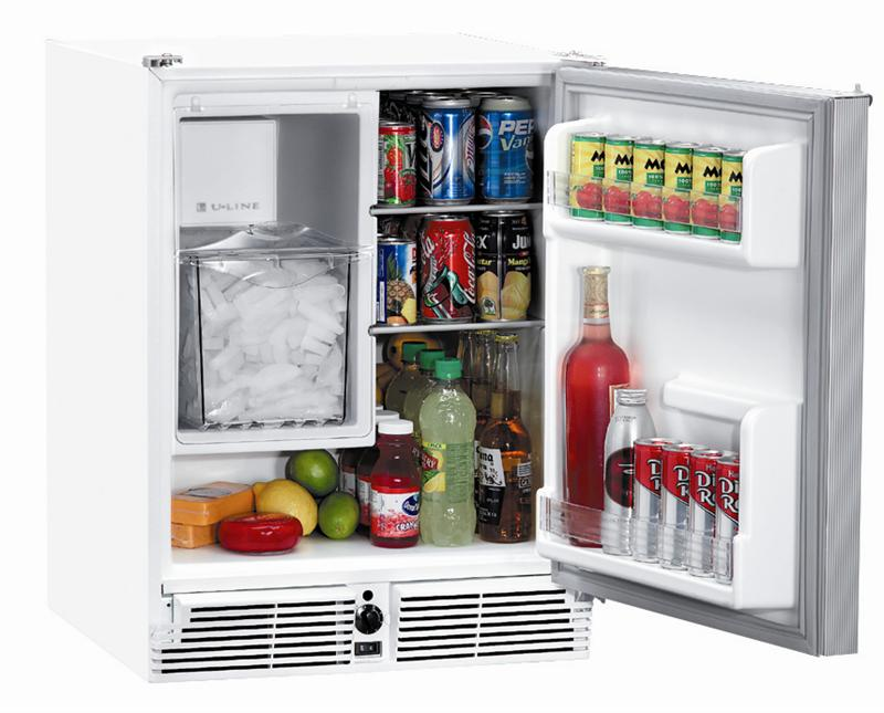 U Line Uln Co29w 03a White Combo Ice Maker Refrigerator